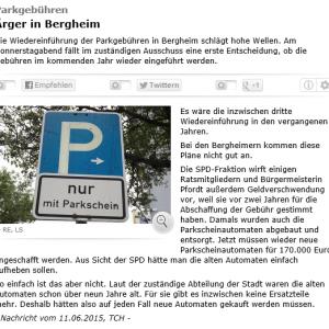 Radio Erft PM Parkgebuehren